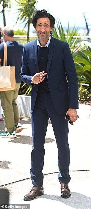 Dapper: Also in attendance at the photocall was Adrian Brody who sported a navy suit