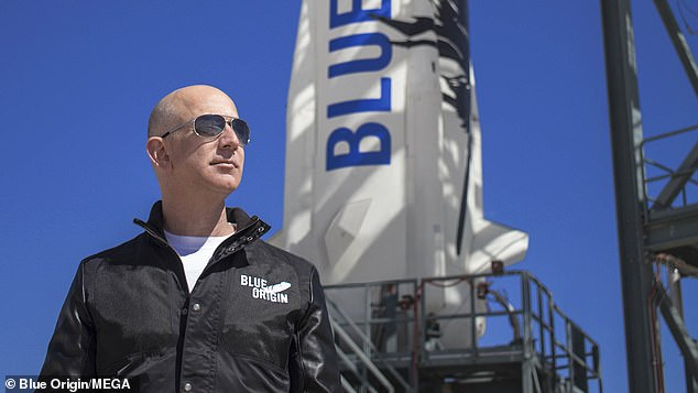 Bezos, his brother Mark, aviation pioneer Mary Wallace 'Wally' Funk,Daemen and two other passengers are now set to liftoff from West Texas and travel just beyond the edge of space