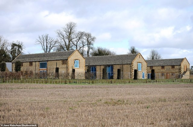 Plans:According to reports, the sports star and fashion mogul ensured their barn is ecological in order for it to be approved by the local council (house pictured in 2017)