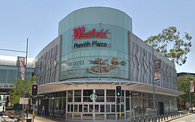 Three venues at Westfield Penrith Plaza (pictured) in Sydney's west have been confirmed as Covid exposure sites by NSW Health