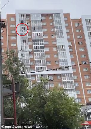 Roman Terentyev was threatening to drop his son 150ft to his death