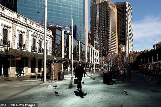 Ms Berejiklian has warned Sydney's lockdown (pictured on Tuesday) will remain in place until the number of cases infectious while in the community drastically decreases