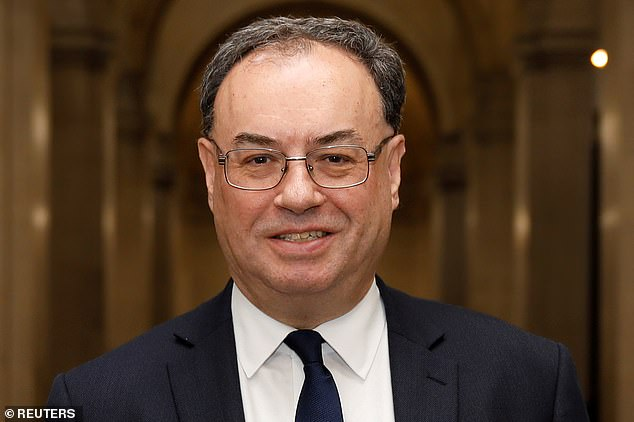 Bank of England governor Andrew Bailey (pictured) cautioned that businesses loaded with debt are 'much less resilient' and would be at risk of going under if another crisis hit