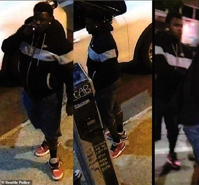 Long, pictured in images released by Seattle officials during the search for him, was captured in Des Moines, Washington, after a brief foot chase