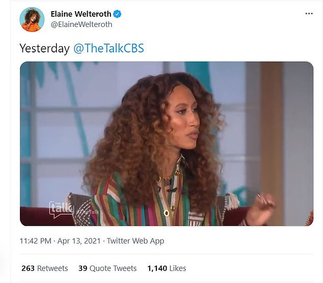 In an on-air address weeks later, Welteroth and Underwood denied Osbourne's claims she was setupand said the two had been forced to stay 'composed' in the face of someone 'who was not listening and who went off the rails into disrespect'