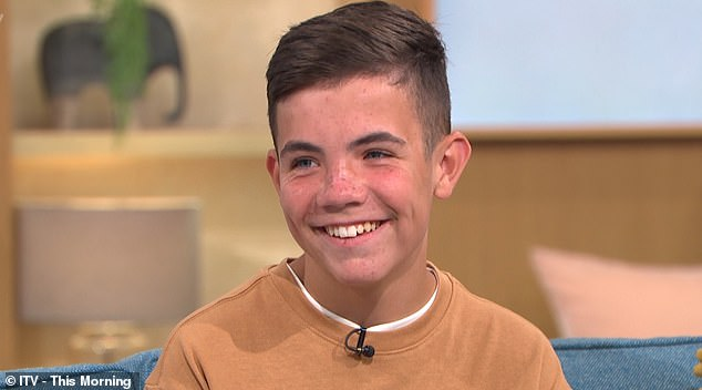 Budding actor Ty Mcphee, 13, from Glasgow, appeared on This Morning today to speak out about the horrendous bullying he faced at school
