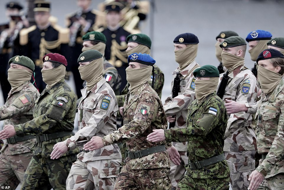 Soldiers from the European Task force Takuba march during the annual Bastille Day parade.Roughly 80 French and European special forces drawn from the multinational Takuba force in the Sahel led the procession on foot, a choice intended to send a diplomatic message from Paris