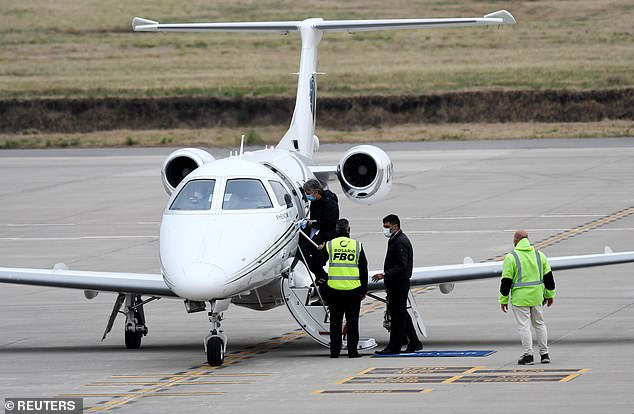 Lionel Messi's private jet was halted on Tuesday following a bomb scare in Rosario