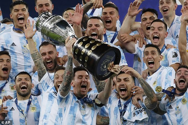 The 34-year-old briefly returned to Argentina following his country's Copa America triumph