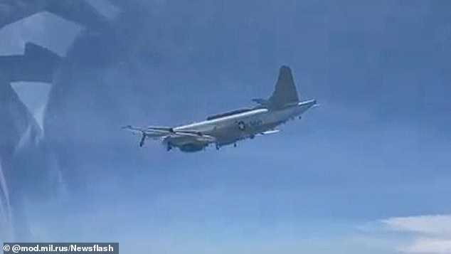 The US aircraft specialises in electronic warfare and signals intelligence