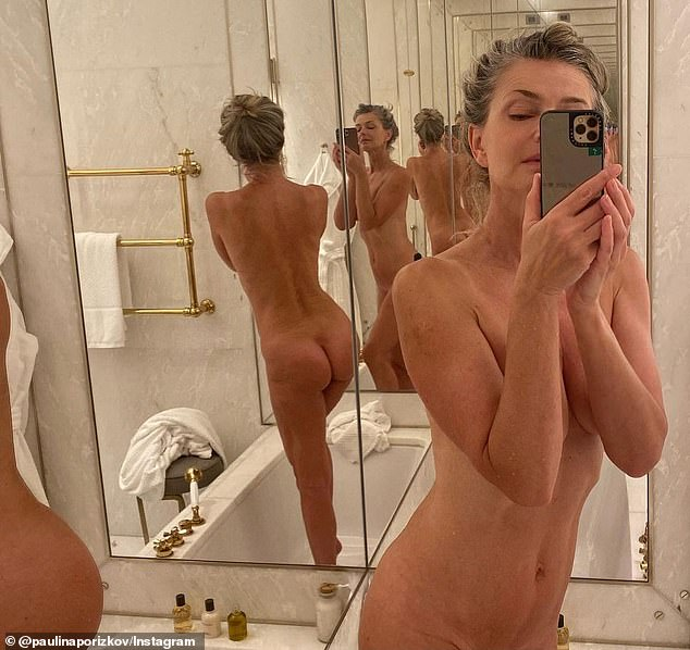 If you've got it... Paulina showed off her incredible figure in a nude selfie that was posted to her Instagram earlier this month, joking that she snapped it because she was 'bored'