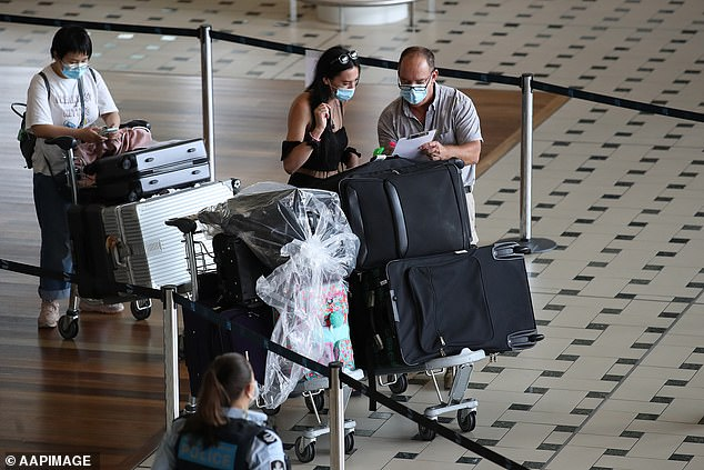 A public health alert has been issued for new contact tracing sites at North Ipswich, Inala and at the Brisbane Airport (pictured)
