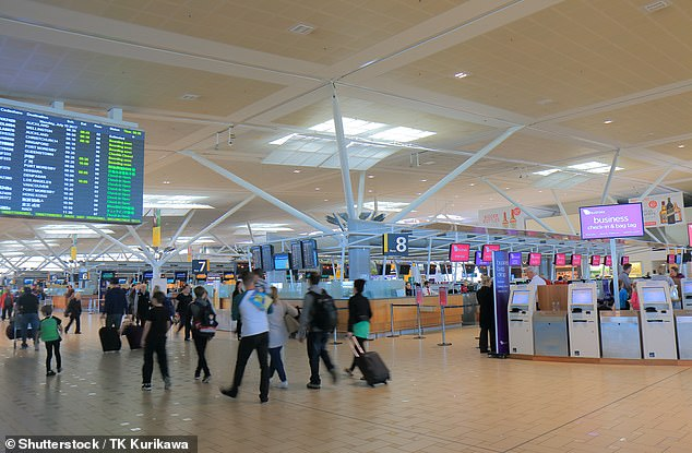 Queensland is optimistic that it has killed community transmission and has welcomed back into the trans-Tasman bubble. Pictured: People at Brisbane International Airport