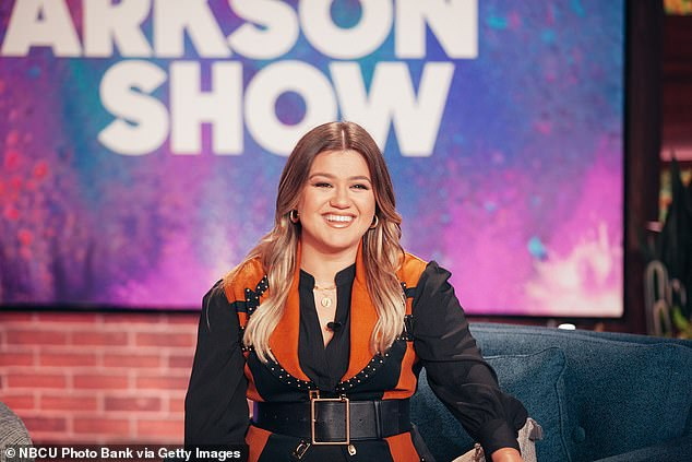 In the limelight: Clarkson who hosts the syndicated talk show The Kelly Clarkson Show