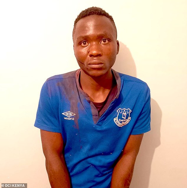 Masten Milimo Wanjala, 20, (pictured) who was dubbed a vampire after confessing to the killings of ten children and sucking the blood out of at least one has escaped from prison in the Kenyan capital of Nairobi