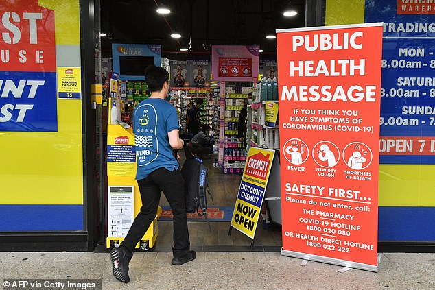 There has been an explosion of cases where infected people have gone to their local pharmacy while contagious, horrifying NSW Health officials (stock image)