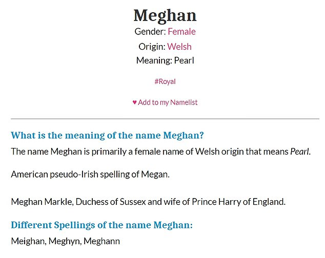 Surprise! The 39-year-old will serve as creator and executive producer of the series, which is named after 12-year-old 'heroine' Pearl - the meaning of the name Meghan