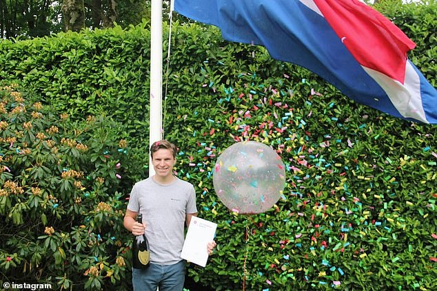 Oliver is a physics student in the Netherlands and is 'super excited' to fly in space