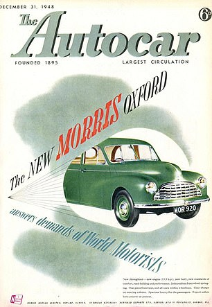 The December 1948 edition features the new Morris Oxford