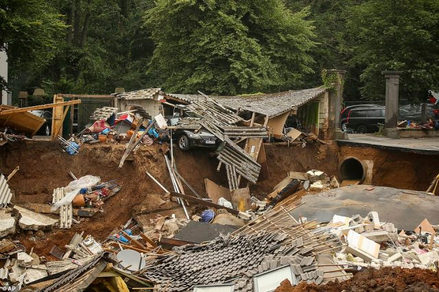 The death toll in Germany from the flooding had already topped 80 even before the landslide hit Blessem, sweeping away homes and part of a castle