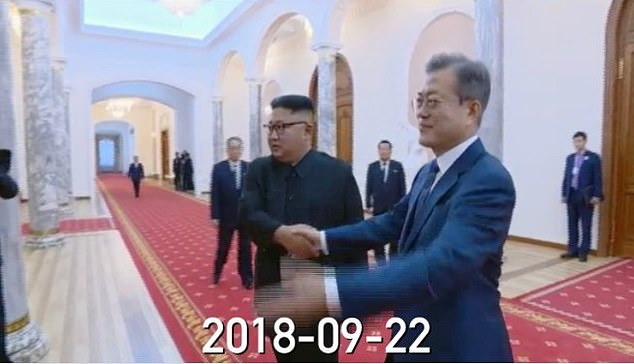 The music video matches the interior of the Paekhwawon Guesthouse seen during the South Korean PresidentMoon Jae-in's visit in 2018