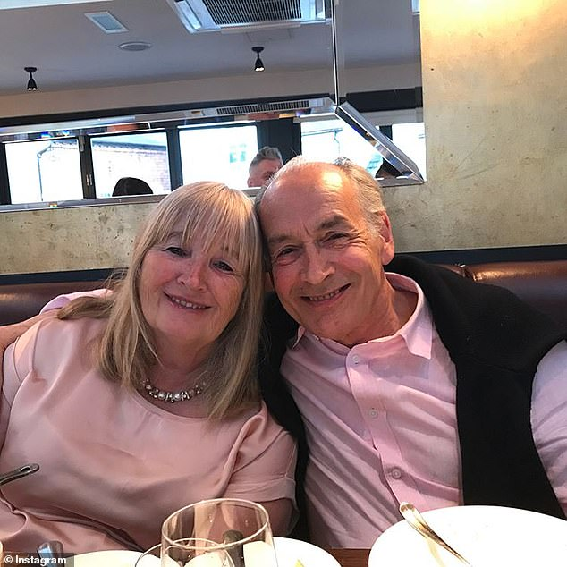 Family: Alastair will no doubt be being supported by his wife Sally who he has been married to since 1978 (pictured together)