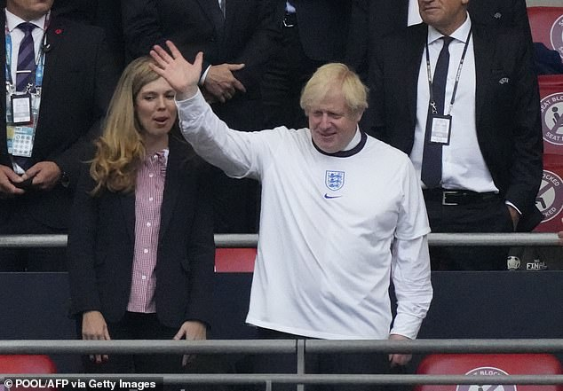 UK PM Boris Johnson (right) is plotting a four-nations-plus-Ireland bid for the 2030 World Cup