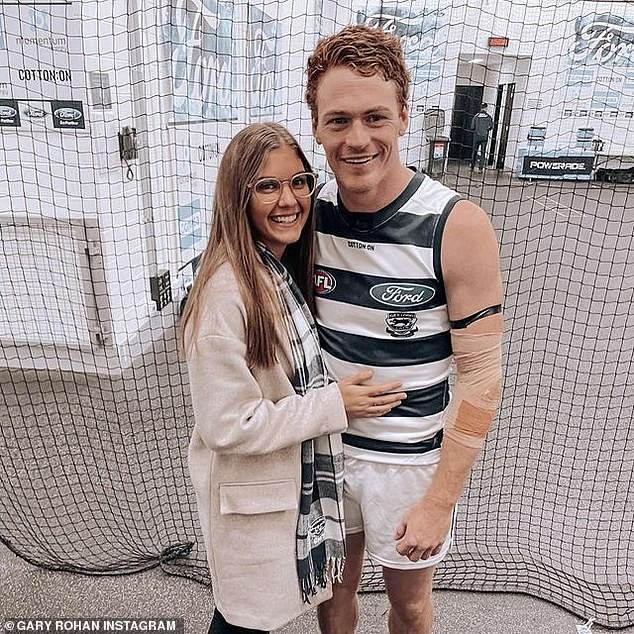 Gary Rohan and his new partner Madi Bennett after a match in May