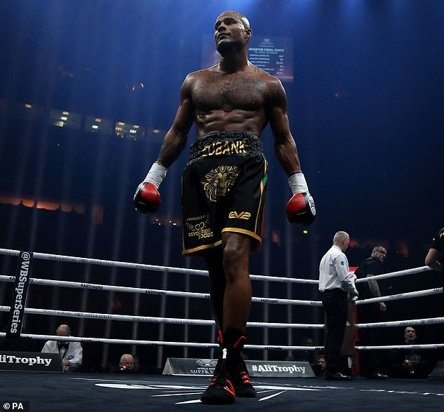 Sebastian Eubank is pictured a light heavyweight bout at Manchester Arena in February 2018