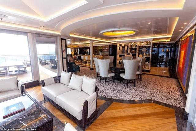 Tickets for the lavish journey started at a staggering $73,499 per passenger, and reached a whopping $199,999 per person for a master suite