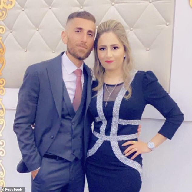 Ramsin Shawka, 27, (pictured with partner) was also part of the movers team and has since tested positive