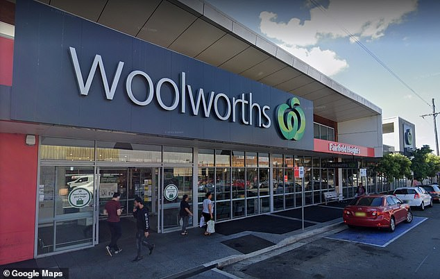 Woolworths in Fairfield heights (pictured) was among five Woolworths supermarkets flagged by NSW Health