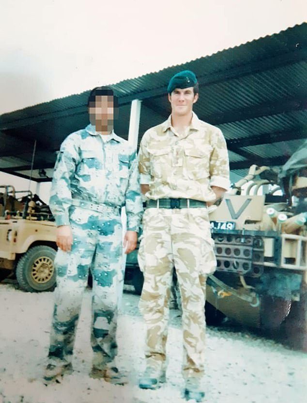 British soldier with former Afghan interpreter Habib, who is waiting to hear if he will be granted sanctuary in the UK. He worked on a Task Force of UK and Afghan Special Forces and is now facing death threats. Habib has twice escaped ambushes