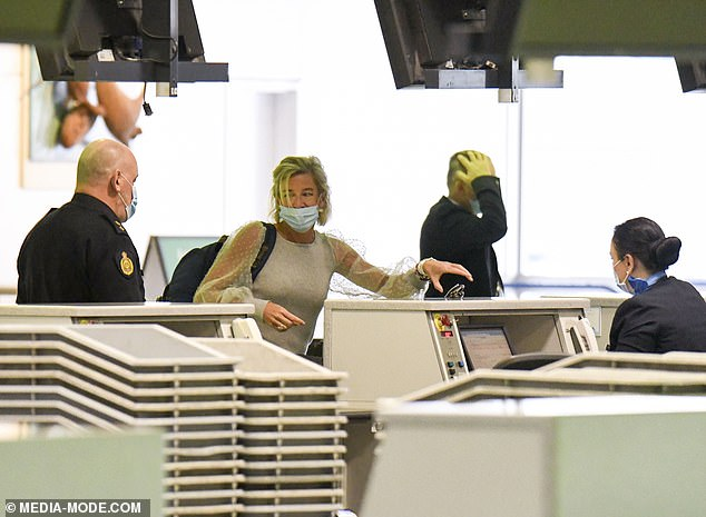 Home Affairs Minister Karen Andrews said of Hopkins: 'I hadn't heard of her before and I don't want to hear about her ever again'. Pictured: Hopkins at Sydney Airport