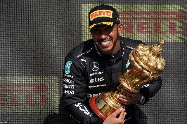Hamilton was dealt a 10-second penalty for the accident but went on to win British Grand Prix