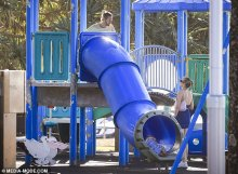 Justin Hemmes and his mannequin girlfriend Madeline Holtznagel get pleasure from a playdate at a park in Byron Bay