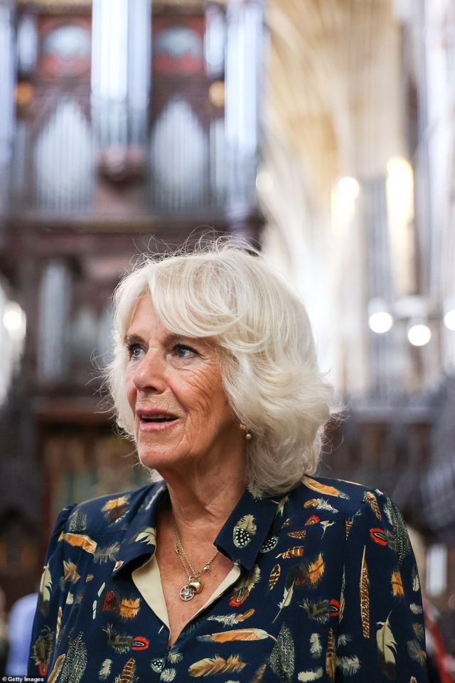 The Duchess of Cornwall is known to dislike wearing a mask - despite owning an array of colourful options.During a visit to the Royal Welsh College of Music and Drama in Cardiff earlier this month, she told a student: 'I can't wait to get rid of this!'