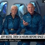 Jeff Bezos says he and Blue Origin teammates are 'ready' to launch into space tomorrow 💥👩💥