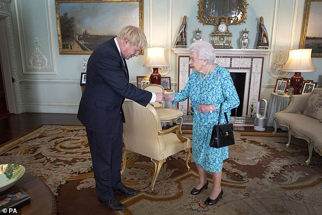 Cummings claimed he told Boris Johnson that 'of course he couldn't go and see the Queen' at the start of the pandemic (file photo)
