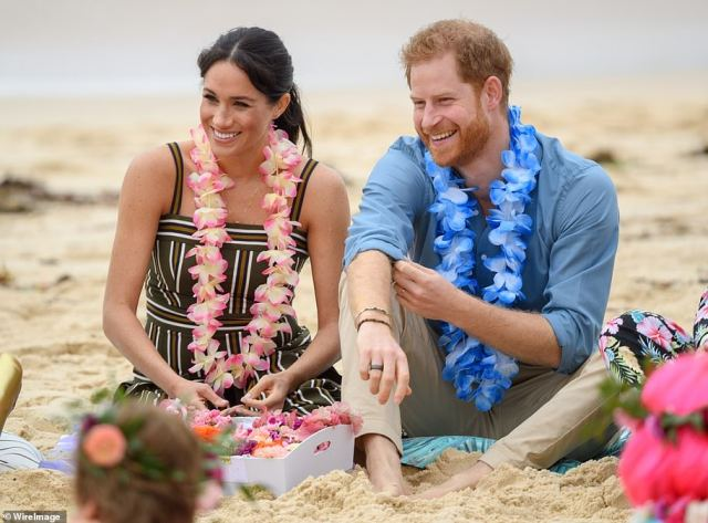 Prince Harry hinted the Royal Family became envious of Meghan during the couple's tour of Australia, saying that their attitudes towards the couple 'changed' in the wake of the trip