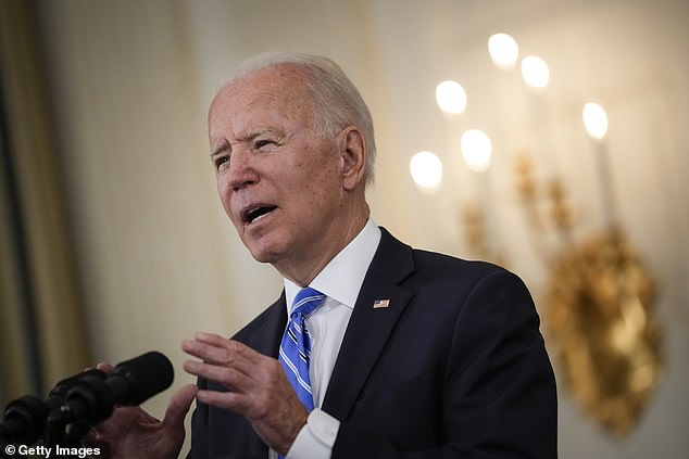 President Biden hit back at inflation fears, saying that price rises were 'temporary' and 'expected' as the nation tried to bounce back from the pandemic
