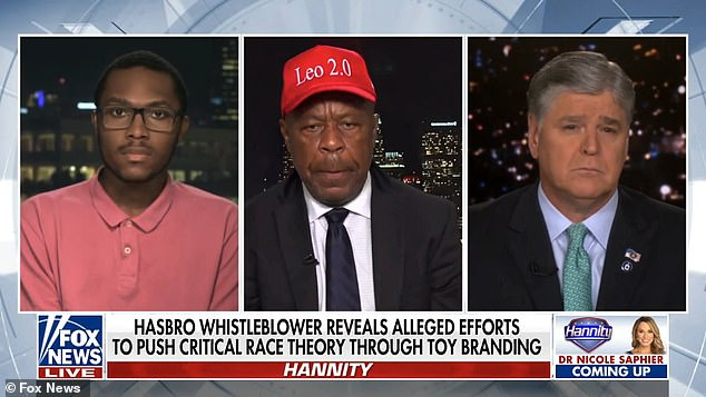 WhistleblowerDavid Johnson (left) said he felt compelled to record The Conscious Kid's racial bias training for Hasbro employees as soon as he heard it was happening