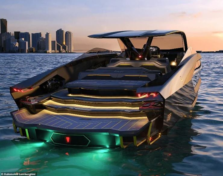 There it is:The price is a mere drop in the ocean for the sportsman, who has an estimated net worth of €101 million, and the lavish boatcan reach a top speed of 69mph (60 knots) and boasts 4,000 horsepower