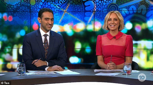 Showtime:The formerly half-hour show premiered on 20 July 2009 and was extended to a one-hour program. Pictured hostsWaleed Aly and Carrie Bickmore