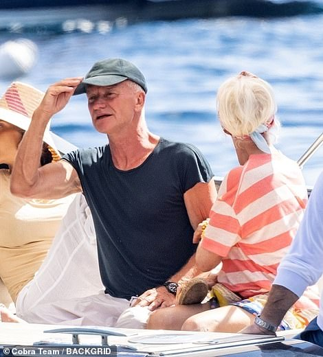 Ahoy there! Sting and wife Trudie Styler are currently on a lavish trip on the Amalfi Coast