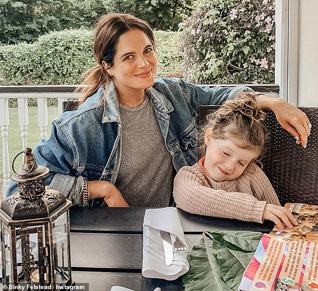 Doting mother: Binkyalso has a daughter India, four, with ex-boyfriend Josh 'JP' Patterson