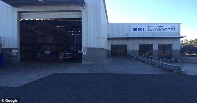The BR International Logistics warehouse in Derrimut in Melbourne's west, is believed to have been exposed by an infected resident all day over a period of seven consecutive days