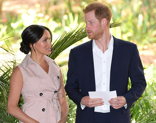 Harry - pictured with Meghan - seems to 'revel' in the pushback from London
