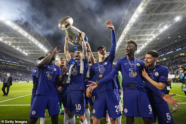 Abraham (second from R) was left out of the squad for the Champions League final in Porto