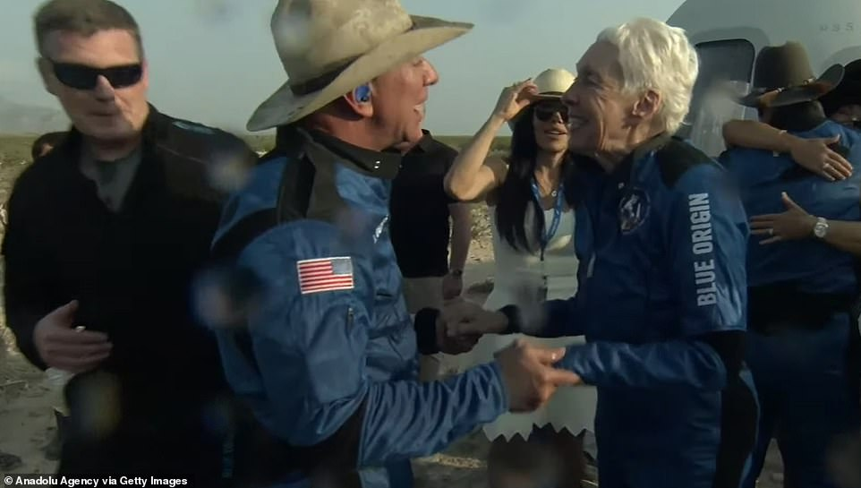 Not only did she finally get her dream, but Funk will forever go down in history for the oldest person to ever visit space